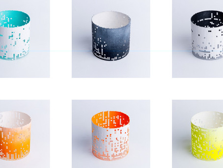 Lampshade designer Kate Hollowood, selected as a finalist for the Etsy UK awards in the new talent c
