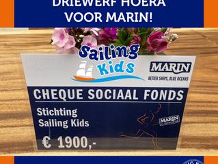 Mooie cheque van Marin!