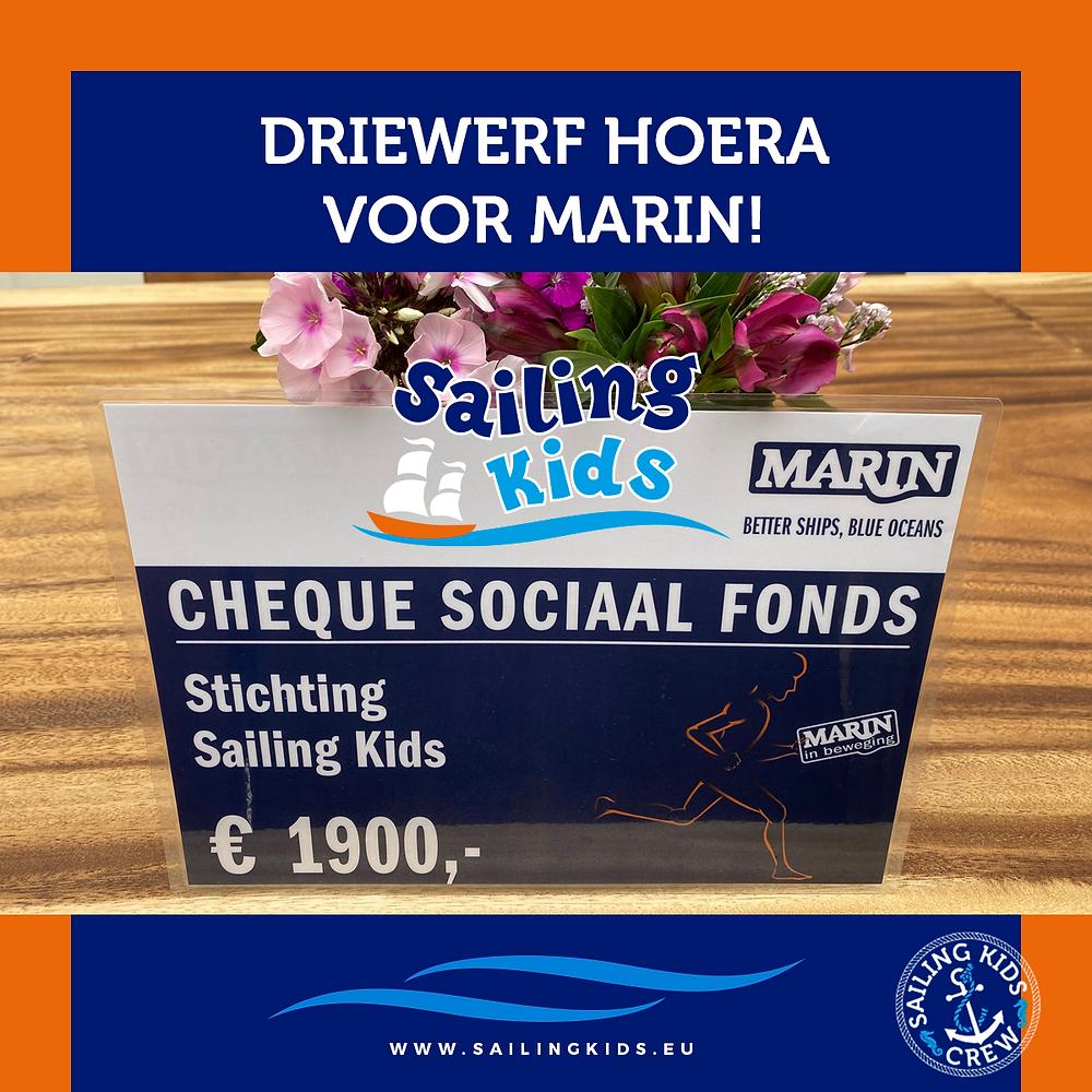Mooie cheque voor Sailing Kids!