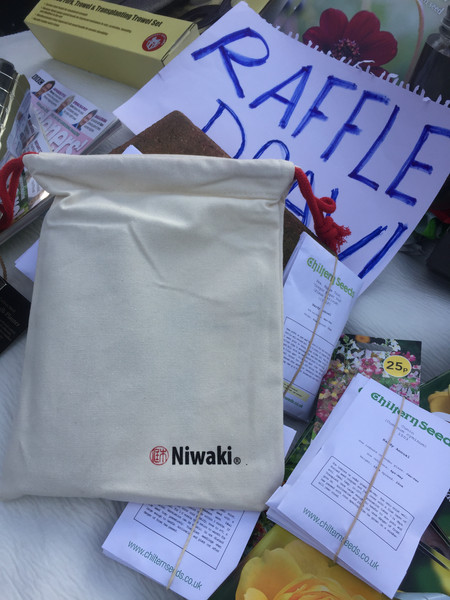Some raffle prizes from Niwaki and Chiltern Seeds