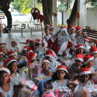Natal na instituição Casa Emilien Lacay