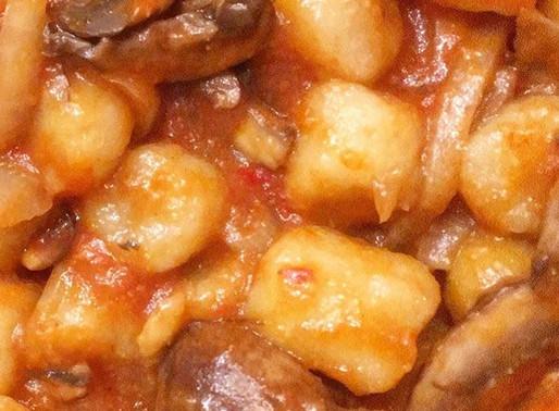 Cauliflower Gnocchi Al Funghi Arrabiata