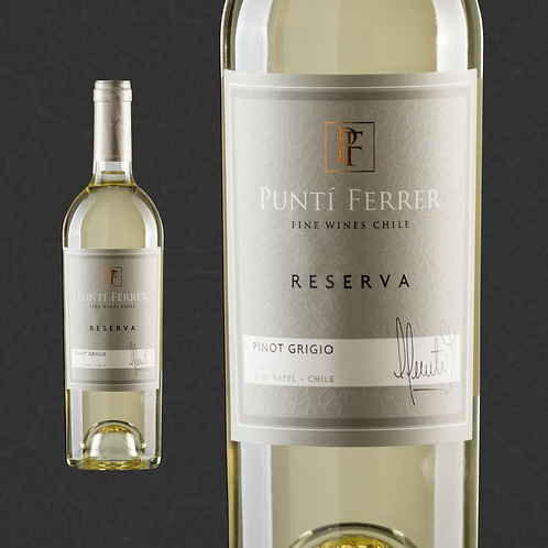 Caja 6 Botellas RESERVA, Pinot Grigio (Valor $5.490 por botella).