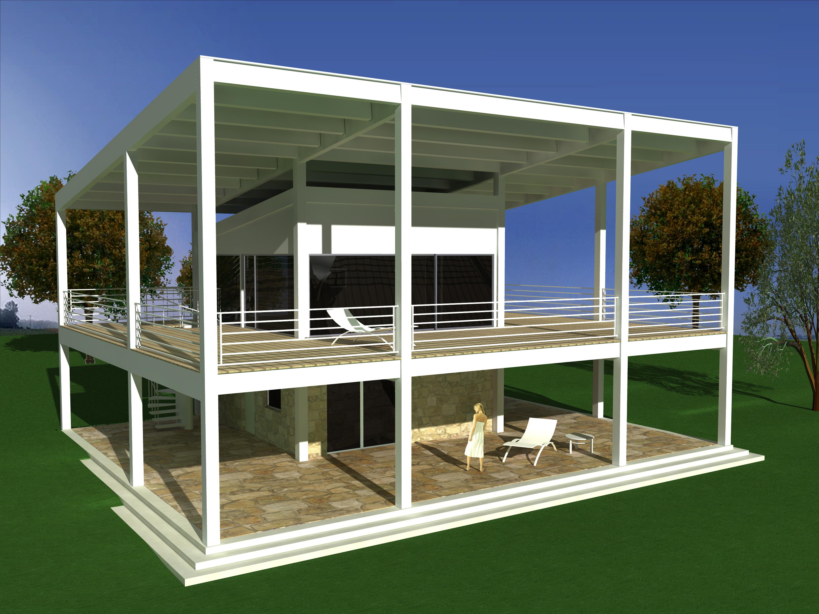 Progettazione e modellazione di villa in Sardegna