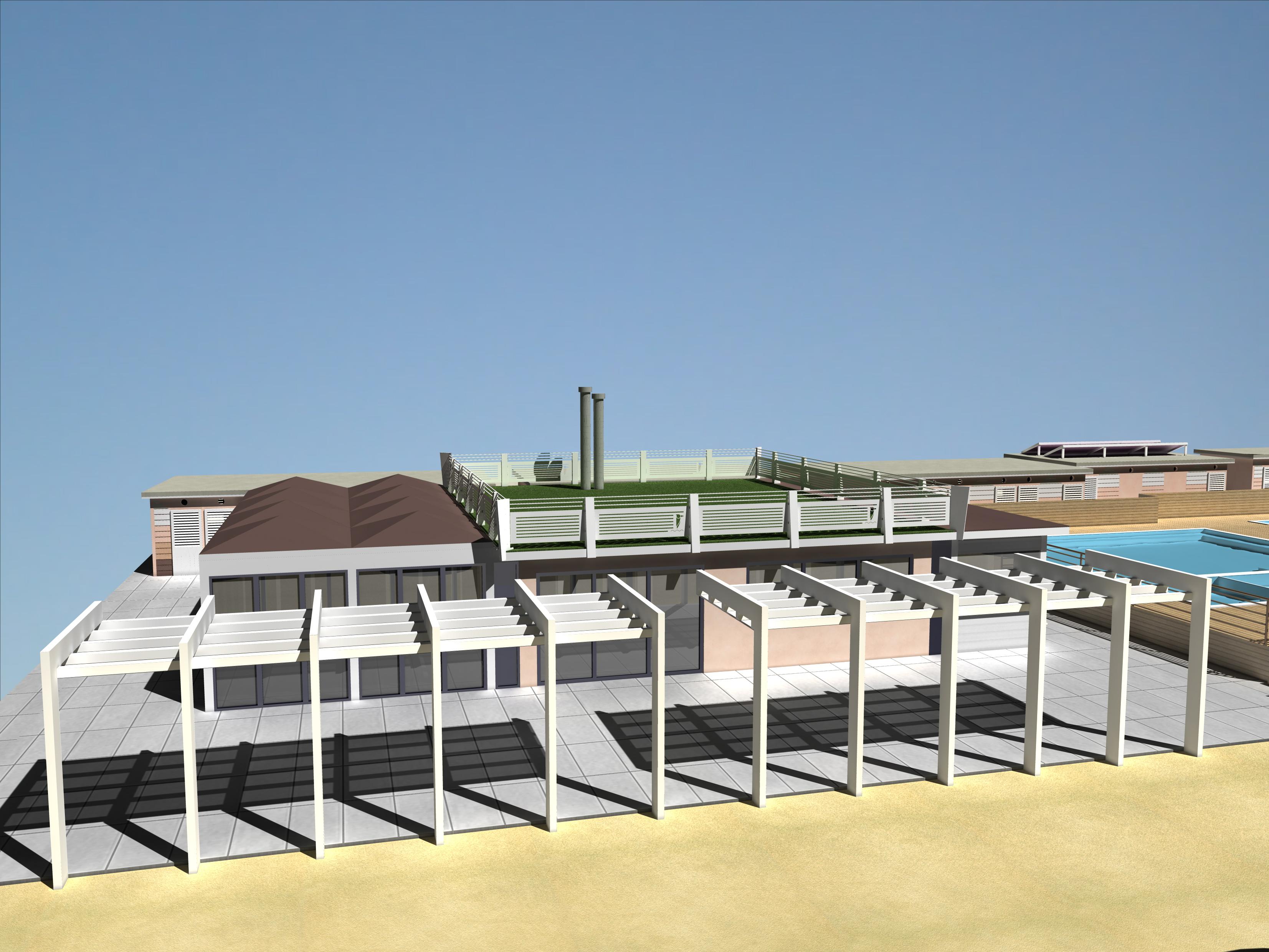 Progettazione e modellazione di tettoie in acciaio