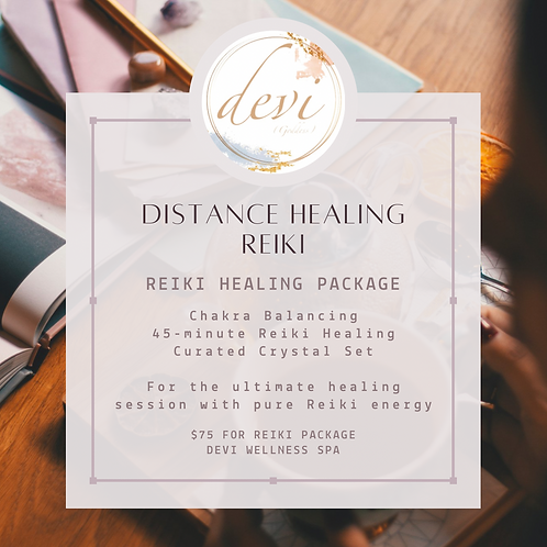Distance Healing Reiki - Reiki Healing Package with Crystal Set
