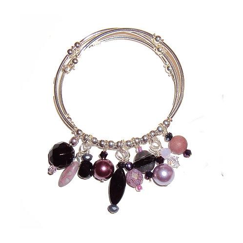 Curved Tube Bead Charm Bracelet Kit