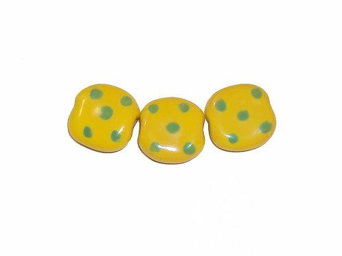 Pita Pat Pebble - Lemon Yellow/Lime Green Dots