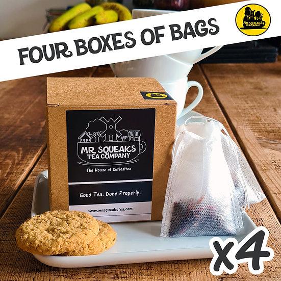 Four Box Teabag Subscription