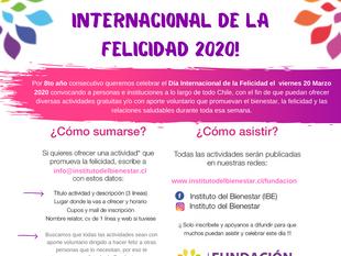 Súmate con actividades para celebrar el día de la Felicidad 2020
