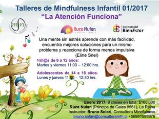 Talleres Mindfulness para Niños y Adultos - Enero 2017.