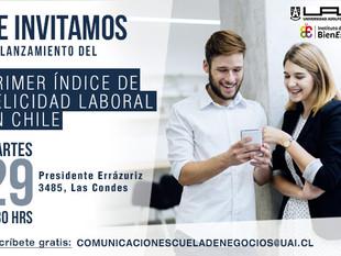 Te invitamos al lanzamiento del Primer Índice de Felicidad Organizacional en Chile.