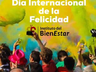 Feliz celebración del Día Internacional de la Felicidad!