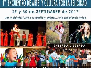Exitoso lanzamiento de Encuentro de Arte y Cultura por la Felicidad - Sábado 30 de septiembre.