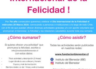 Convocatoria Día de la Felicidad 2019