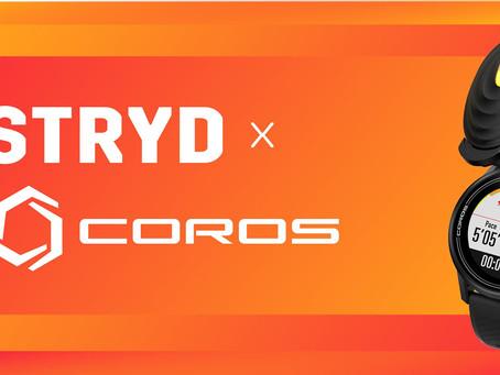 STRYD x COROS
