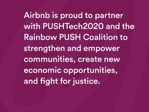 Rev. Jackson congratulates Airbnb