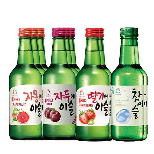 Jinro Soju Bottle Set of 10 Bottles / 360ml