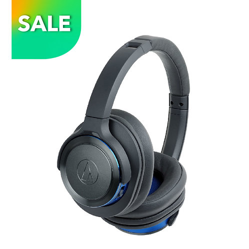 ATH-WS660BT GL/BL Wireless Over-Ear Headphones w/ Built-in Mic & Control