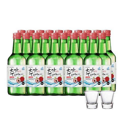 Chuga Soju Lychee (20s x 360ml) Free 2 Shot Glass