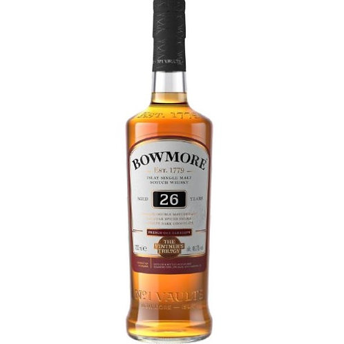 Bowmore 26 Years Old Vintner's Trilogy Whisky 70cl