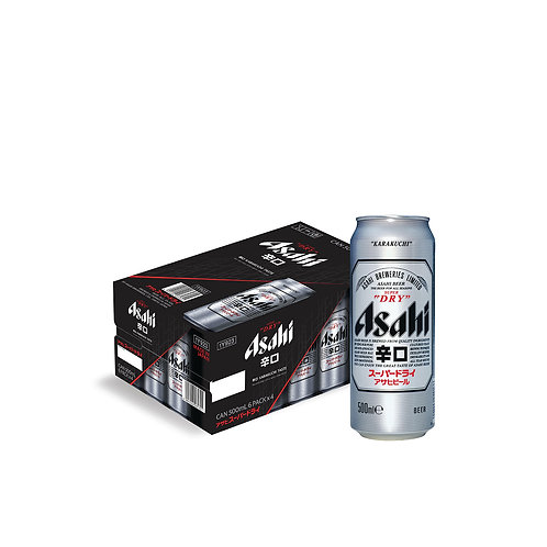 Asahi Super Dry Beer Can 500ml (Pack of 24)