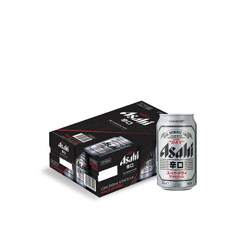 Asahi Super Dry Beer Can 350ml (Pack of 24)