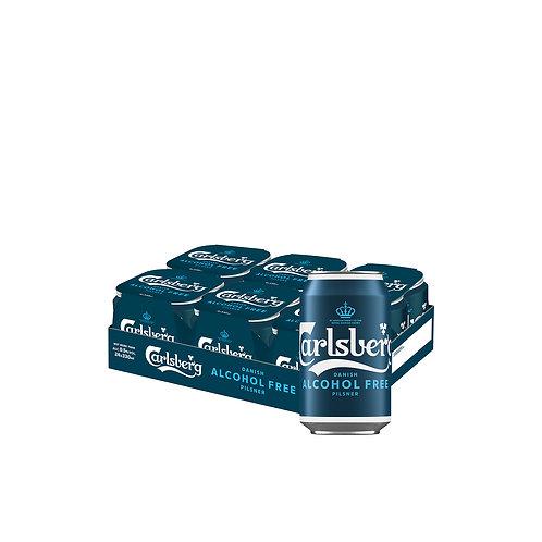 Carlsberg Alcohol-Free Pilsner Beer Can 330ml (Pack of 24)