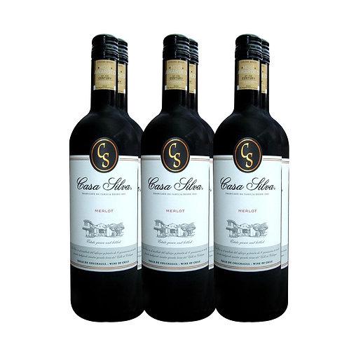 Casa Silva Merlot 2019 6 Bottles x 750ml