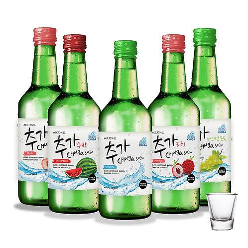 Chuga Flavoured Bundle 5 Bottles FREE : 1 x Shot Glass (No lychee)