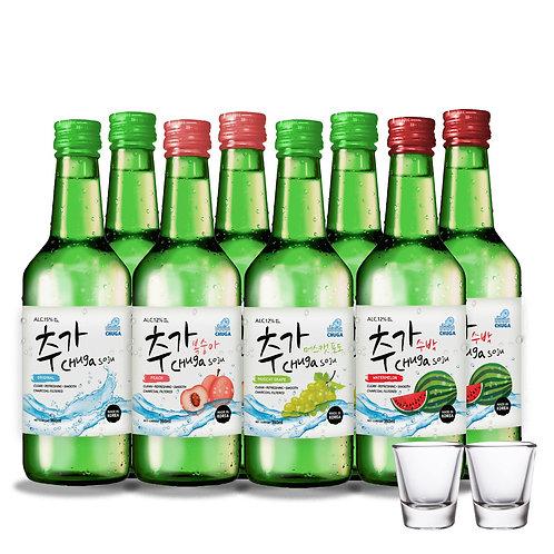 Mixology - Chuga Flavoured Bundle 10 Bottles FREE : 2 x Shot Glass (No Lychee)