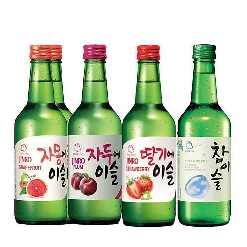 Jinro Soju Bottle Set of 5 Bottles / 360ml