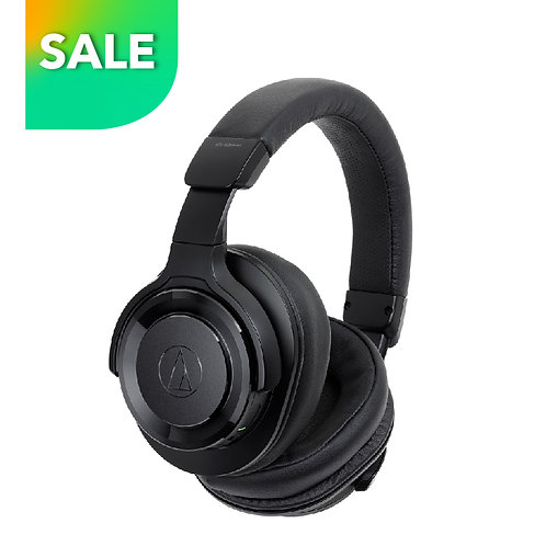 ATH-WS990BT BK Wireless Over-Ear Headphones with Built-in Mic & Control