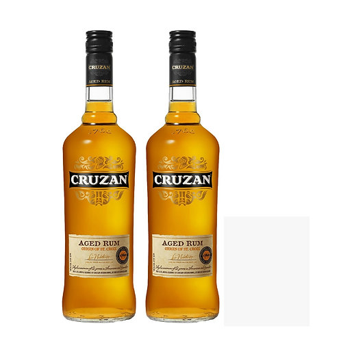 2x Cruzan Dark Aged Rum Bundle