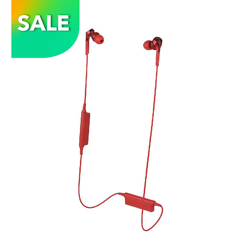 ATH-CKS550XBT RED Solid Bass Wireless In-Ear Headphones