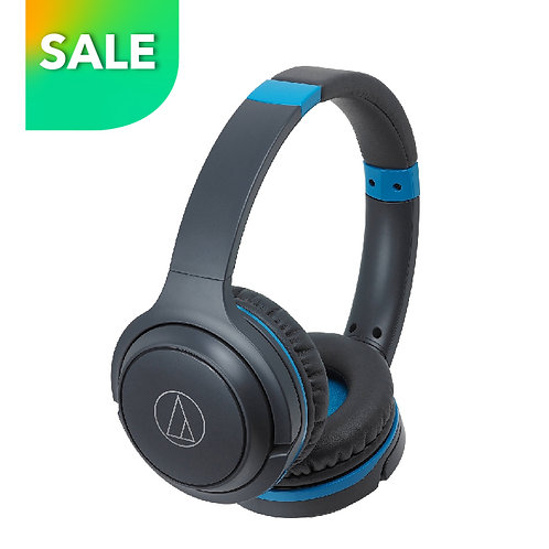 ATH-S200BT GBL BT Wireless On-Ear Headphones with Built-in Mic & Controls