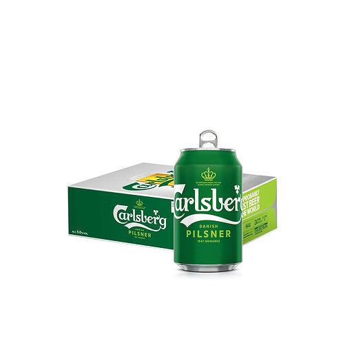 Carlsberg Danish Pilsner Beer Can 320ml (Pack of 24)
