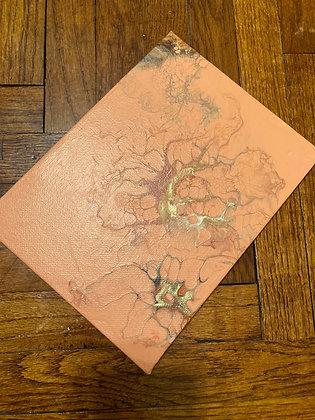 Gold, Mine - 6 x 8 Acrylic Pour