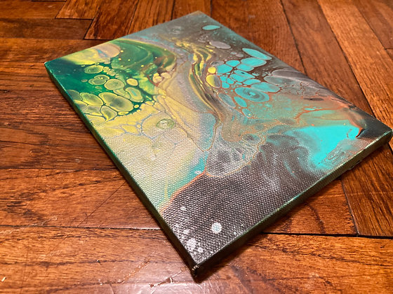 Heaven And Earth Collide - 6 x 8 Acrylic Pour