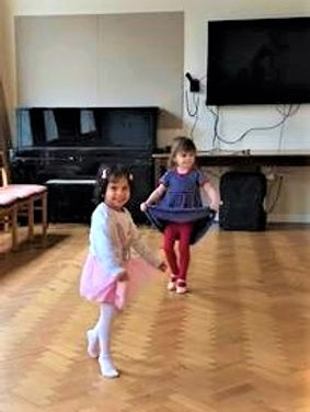 Learning tippie toes at Prima School of Ballet