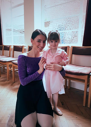 Students at Prima School of Ballet