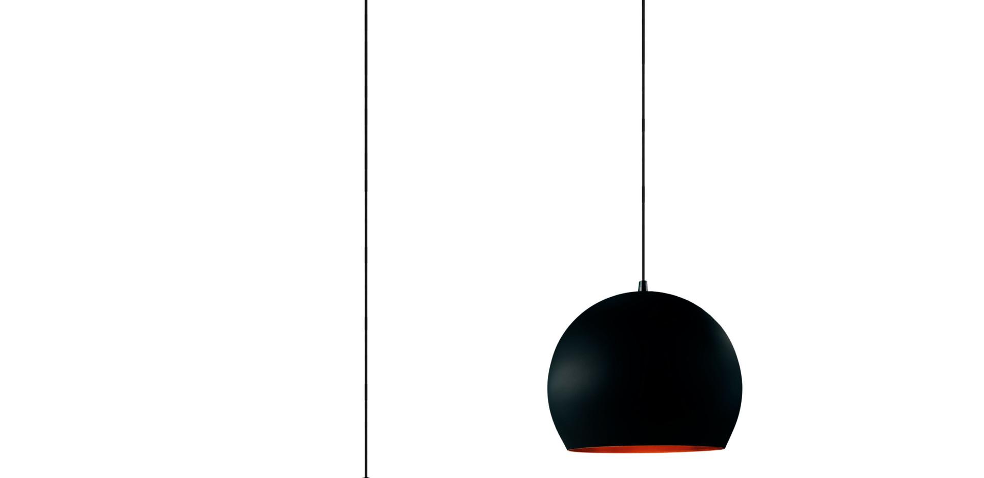 lustre meia bola duplo preto com cobre.j