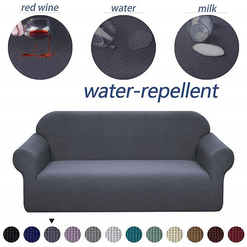Waterproof Sofa Cover Solid High Elastic Slipcover All-Inclusive