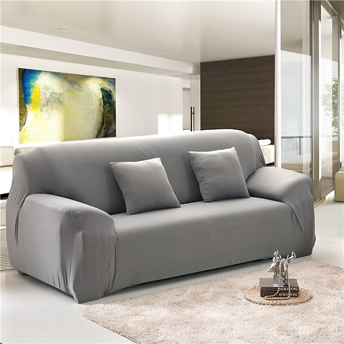 Solid Color Elastic Sofa Cover Universal Stretch L-Style  Sectional 23 Colors