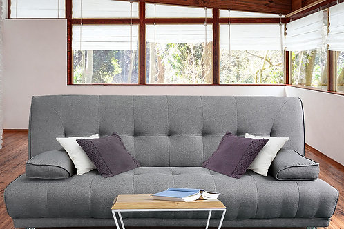 Sarantino 3 Seater Linen Sofa Bed Couch Lounge Futon - Light Grey