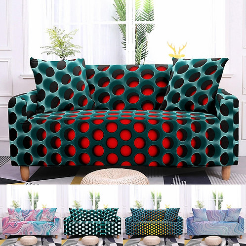 3D Sofa Covers /Protector 10 Colors  Soft Elastic 1-4 Seaters