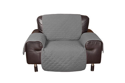 1 Seater Sofa Covers Quilted Couch Lounge Protectors Slipcovers Grey