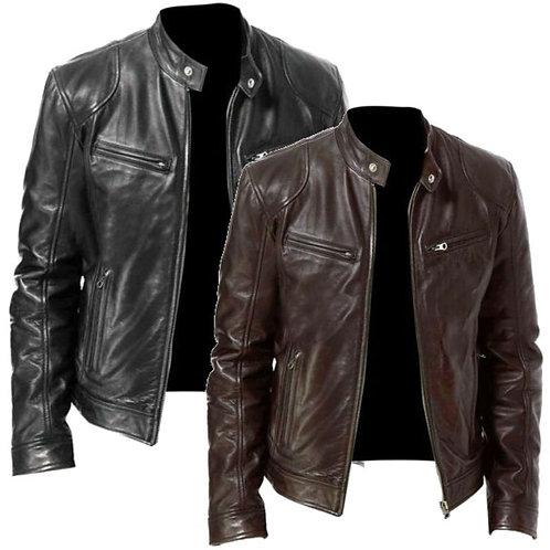 2020 Mens Fashion Leather Jacket