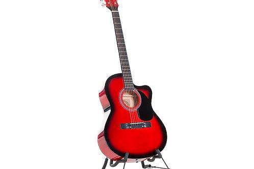 Karrera Acoustic Cutaway 40in Guitar - Red