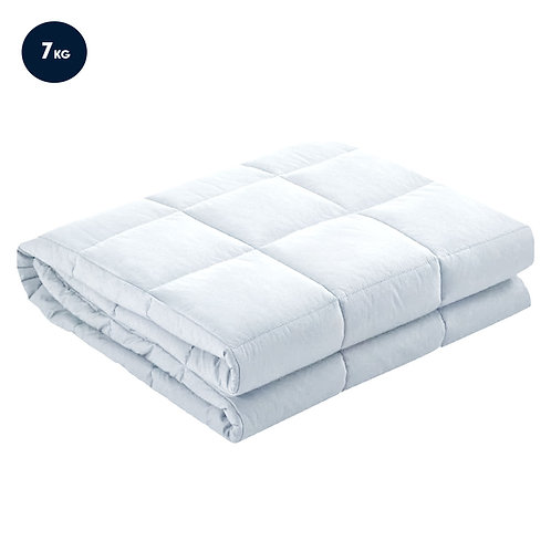 Laura Hill Weighted Blanket Heavy Kids Quilt Doona 7Kg - White